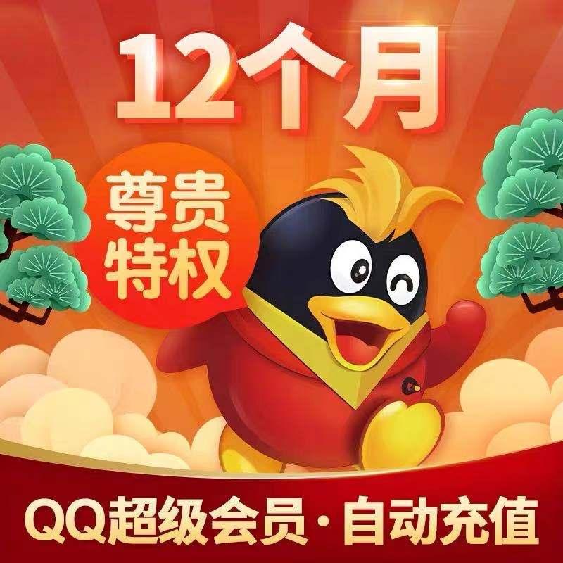 【手工代充】QQ超级会员一年 送2个月加速包 正规直冲 本身有也可以(1小时到,最迟当天)