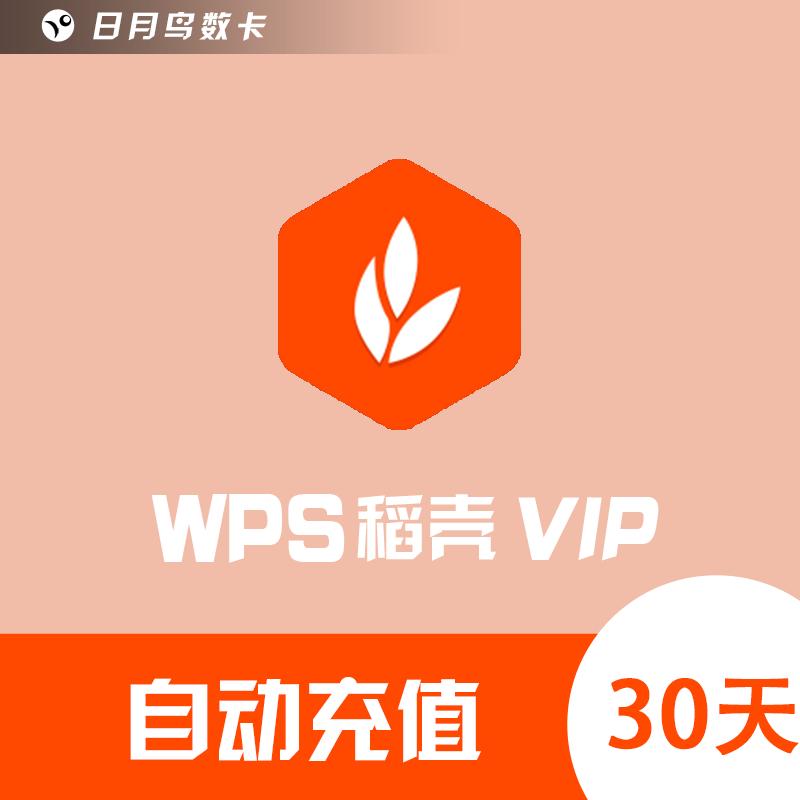 【自动充值】WPS稻壳VIP会员 30天 24小时在线充值 极速到账